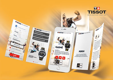 Tissot – Jeu Mobile-First pour le Tour de France 2016